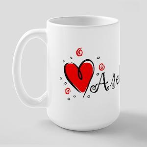 """I Love You"" [Kurdish] Large Mug"